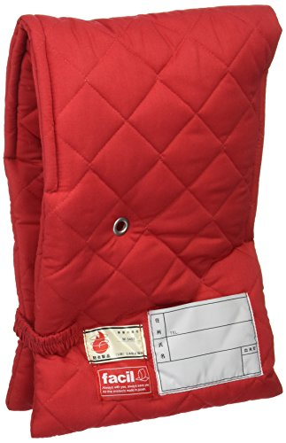 ファシル 防災対策 小学生用 プレミアム 防災頭巾 レッド 8070