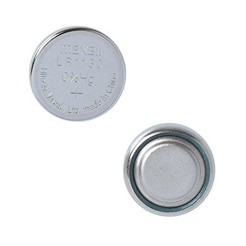 Maxell - Blíster con 2 pilas de botón alcalinas LR1130, (1,5 V, equivalente a los modelos LR54, G10A, KA54, 189-1, RW89, L1131, V10GA, GP89A, 189, 389A, 390A, AG10 y D189) para cámaras, juguetes, calculadoras, linternas, relojes, punteros láser, etc.