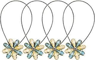 Sycle circle 4 Pack magnetische gordijn stropdas ruggen, decoratieve kristallen gordijn holdbacks voor slaapkamer, woonkam...