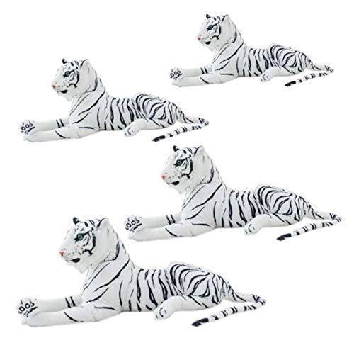Bias&Belief Simulación Tigre Peluche Muñeca Muñeca Simulación Animal Tiger South China Tigre Tigre Peluche Toy Zoo Regalos,Blanco,1.2M