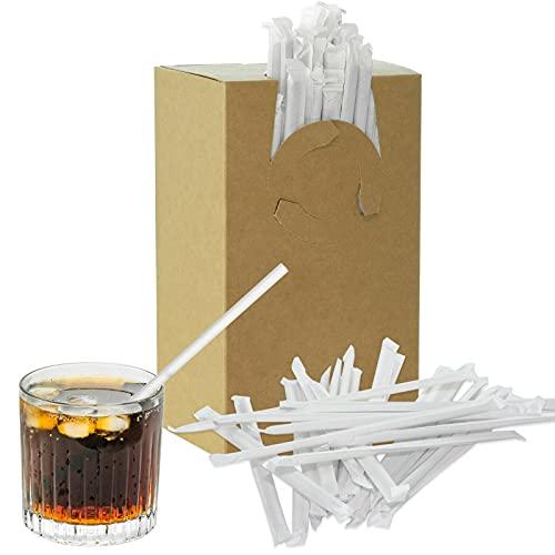 250 cannucce di carta, cannucce di carta, per feste, bar, bevande, cocktail, compleanno, biodegradabili, ecologiche, senza plastica