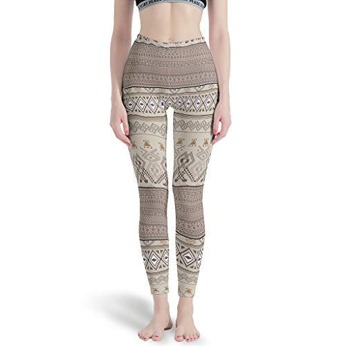 NeiBangM Elastische fitness yogabroek meisjes grafisch geometrie patroon potloodbroek stretchbroek voor yoga