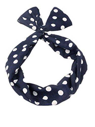 Demarkt 1pcs Chic Accessoire pour Cheveux/Hair Accessorie/Headwear Tissu Bleu avec Point Blanc pour Les Femmes