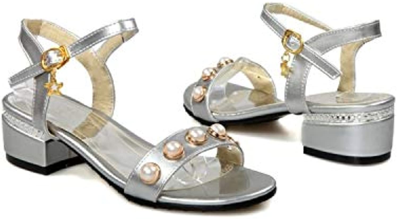 MENGLTX High Heels Sandalen Damenschuhe Plus Größe 34-48 Schuhe Damen Sandalen Sommer Style 227-1