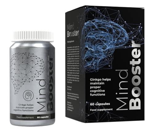 Mind Booster - Soporta la concentración de memoria de 60 cápsulas.