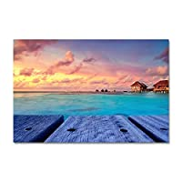 """キャンバス上の絵画美しい青い海の景色の壁アートポスターとプリントアートワークの写真寝室のリビングルームの家の装飾15.7"""" x23.6""""(40x60cm)フレームレス"""