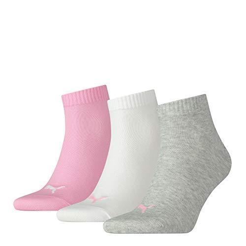 Puma Herren Quarter Plain 3p Sportsocken, Pink (Prism 395), 39/42 (Herstellergröße: 039)