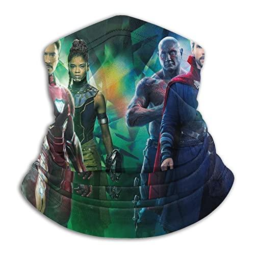 Ave-Ngers Infinity War – Polaina máscara facial pasamontañas pañuelo a prueba de polvo corte UV calentador de cuello ajustable para hombre mujer negro