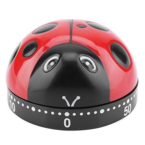 Temporizador de cocina Ladybug Temporizador de 60 minutos Temporizador de cuerda mecánico Recordatorio de cocina Temporizador de cuerda mecánico lindo para oficinas, laboratorios, cocina