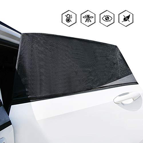 Auto Sonnenschutz Kinder,2 Stück Universal Sonnenblende Auto Baby mit UV Schutz,Meshmaterial Autoscheiben Sonnenschirme Sonnenschutzrollo für Verdunkelung,Sichtschutz,Schützt Mitfahrer