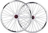 Ruedas Bike Wheelset, rueda de bicicleta de montaña de 26 pulgadas (frente + trasera) Juego de ruedas de freno de aluminio de doble pared de doble pared Relación rápida Palin Rodamiento 7,8,9,10 veloc