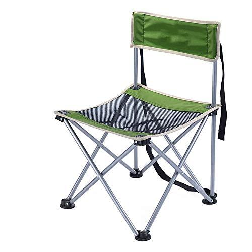 WJQ Outdoor Klappstuhl Freizeit Strand Rückenlehne Hocker Campingzubehör, langlebig und komfortabel atmungsaktiv sicher und stabil leicht zu tragen, mit Einer Tragetasche