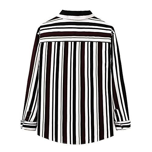 D-Rings Camisa de franela de manga larga para hombre de corte regular, Negro , XL