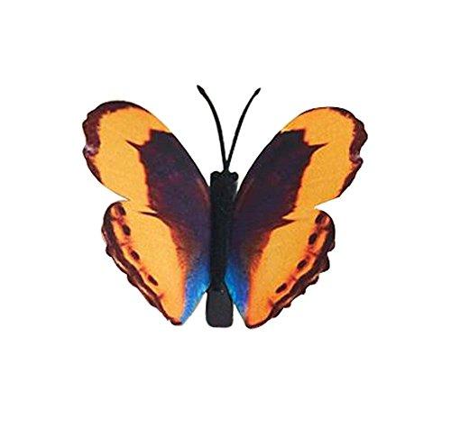 Set de 3 Papillon Pin Hair Fashion Barrette épingle,3.15'',Orange / jaune