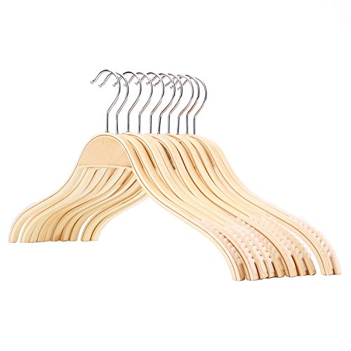 Tebery Rutschfest Kleiderbügel Aus Holz 10 Stück