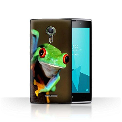 Hülle Für Alcatel Flash 2 Wilde Tiere Frosch Design Transparent Ultra Dünn Klar Hart Schutz Handyhülle Case