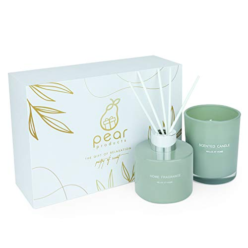 Pear Products Luxury scented candle and diffuser set (Gardenia & Fresh green spring) 120ml