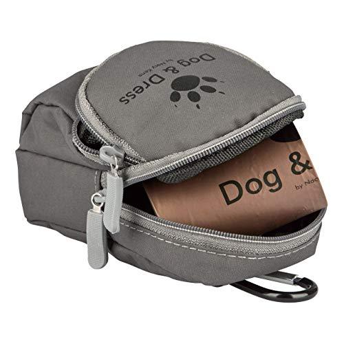 Dog & Dress Hundekotbeutel 120 St. für Hunde biologisch abbaubar, Kotbeutelspender f Leckerlis + Kotbeutel, Extra Groß, Sicher, Reißfest, Karabiner + Gürtelschlaufe