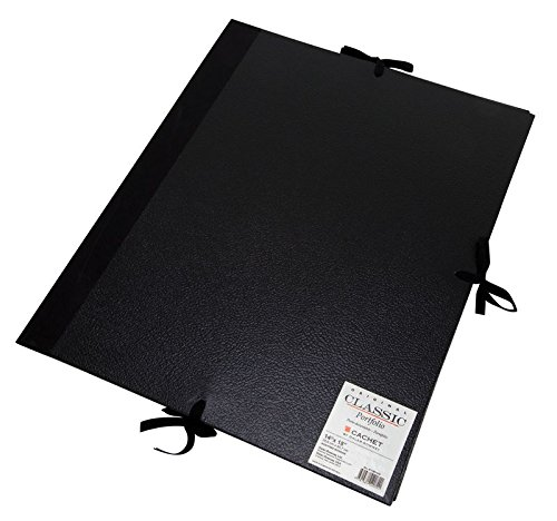 Black 20 x 26 inches 471302026 Daler-Rowney Cachet Classic Portfolio Hard Cover with Cloth Ties