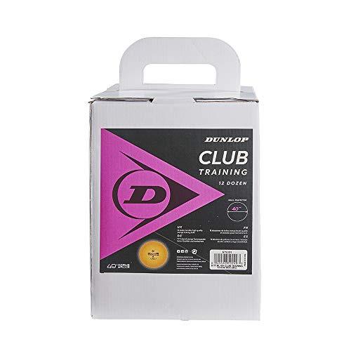 Dunlop Club Training 144 - Pelotas de Tenis de Mesa (144 Unidades, para Entrenamiento, Principiantes y Jugadores avanzados), Color Naranja