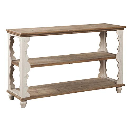 white antique console table - 9