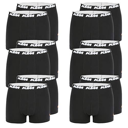 KTM Boxer Men Herren Boxershorts Pant Unterwäsche 12 er Multipack, Farbe:Black, Bekleidungsgröße:XXL