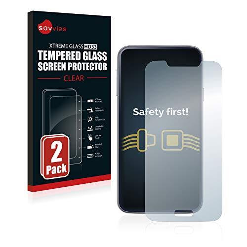 Savvies Panzerglas kompatibel mit Samsung Galaxy S5 / S5 Neo (2 Stück) - Echt-Glas, 9H Härte, Anti-Fingerprint