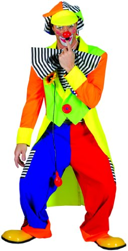 Funny Fashion Deguisement Carnaval : Costume Achille Le Clown Taille : L