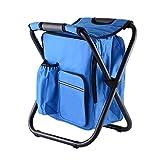 JY Zusammenklappbarer Campinghocker mit Taschen Rucksack-Kompakter, tragbarer Gartenstuhl-Doppel