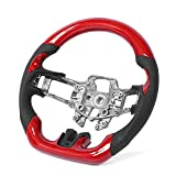 HONGYING Hub del Volante Red Carbon Fiber Car Steering Wheel...