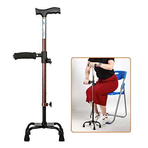 Gehstock, Vierfußgehhilfe Krücken, Höhenverstellbar, Für Ältere Menschen, Menschen Mit Bein- / Fußkrankheit (Size : A)