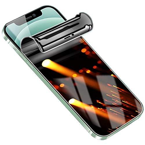 SOMEFUN【2 Piezas】Protector de Pantalla de Privacidad Compatible con iPhone SE (2020) 4.7' Película de Hidrogel de TPU Suave de Cubierta Completa, Anti Peeping [Vidrio no templado]