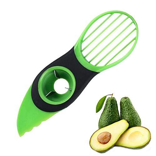THETAG Avocadoschneider,Avocado Schneider 3 in 1 Grün Obst Schneider Küchenschneider Obstschäler für Fresh Avocado Saver in Haushalt Küche