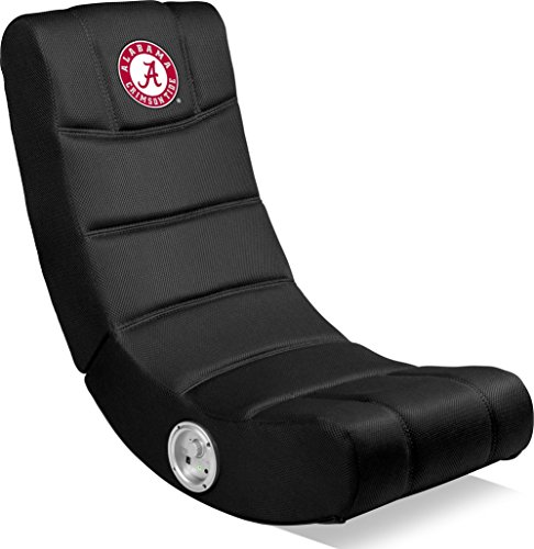 Imperial Officially Licensed NCAA Furniture: Ergonomic Video Rocker Gaming Chair with Bluetooth, Alabama Crimson Tide