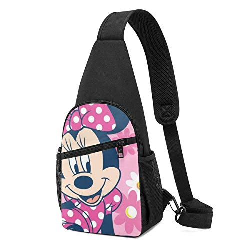Boweike Sling Backpack Casual Beautiful Minnie Crossbody Daypack Shoulder Bag Chest Bag Rucksack