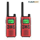 FLOUREON Talkie Walkie 2Pcs 16 Canaux Rechargeable Radio Bidirectionnelle Emetteur...