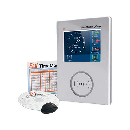 ELV TimeMaster Zeiterfassung Komplettsystem Plus 6