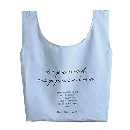 買い物袋 エコバッグ 買い物バッグ コンパクトバッグ ショッピングバッグ 防水エコバッグ 折りたたみ買い物袋 収納袋 小物収納 コンパクト大容量 軽量 防水布袋 野菜を買って環境保護袋を持つことができます (薄い青)