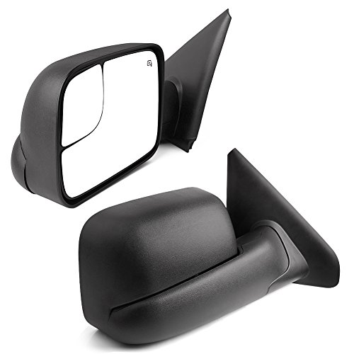 YITAMOTOR Towing Mirrors Compatible with Dodge Ram, Power Heated Flip-up with Convex Lens Tow Mirrors (Pair Set), for 2002-2008 Ram 1500, 2003-2009 2500 3500