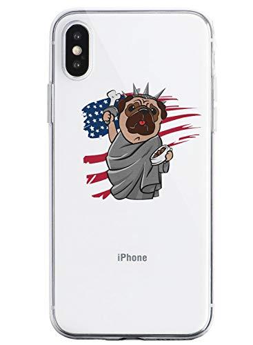 Suhctup Funda Compatible con iPhone 7+/8+ Plus,Transparente Carcasa con Dibujos Animados TPU Silicona Protectora de Golpes Anti Choques Slim Case Cover Bumper para iPhone 7+/8+ Plus 5.5''(6)