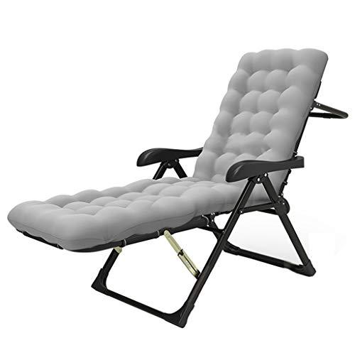 LKH Sillón reclinable Ajustable de 7 velocidades, sillón de Dormitorio con balcón, sillón de Exterior portátil, Tumbona con Almohadilla de algodón (Color : D)