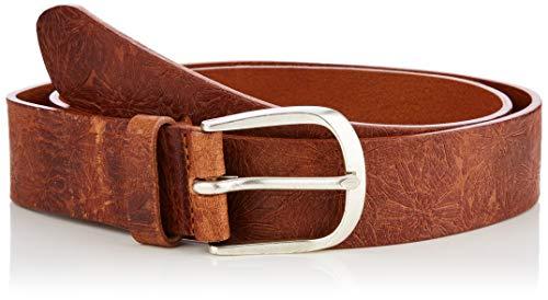 BRAX Damen Style Ledergürtel Mit Prägung Gürtel, Cognac, 6631 (Herstellergröße: 85)