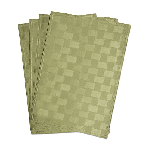 Bardwil Linens Reflections Set of 4 Placemats, Sage
