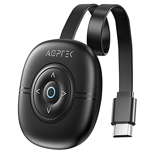 Wireless Display Dongle 4K, AGPTEK Adaptador HDMI inalámbrico WiFi Display Receiver Compatible con Android/ iOS/ PC/ TV/ Monitor/ Proyector, Miracast Airplay DLNA Chrome