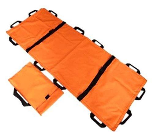 HNHN Tragbare Bahre Transporteinheit, Notfallpatienten Mover Stretcher Oxford Leder Rollentragbahre, Patient Folding. 1127 (Size : Orange)