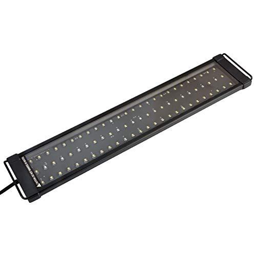 NICREW DeluxeLED Pantalla LED de Acuario, Luz LED de Acuarios y Peceras, Lampara Tanque Plantados, Iluminacion LED para Acuario de Aluminio, 50-65 cm 18W, 7500 K, 1200 LM
