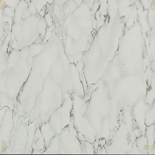 45 Self Adhesive White Marble 12' X 12' Vinyl Flooring Tiles