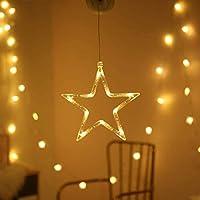 クリスマスベル吸盤ランプ、クリスマスウィンドウ吸盤ホリデーランプ、ウィンドウ吸盤ホリデーランプ。 (五芒星)