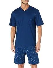 Calida Relax Imprint 1 Tvådelad Pyjamas För Män, Blå, L