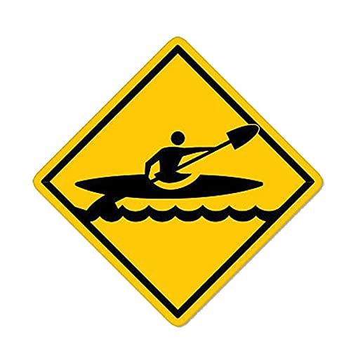 WBXZY Pegatinas de Coche 12,7 CM * 12,7 CM Kayak Crossing Kayaking PVC Motocicleta Coche Pegatina 11-00358